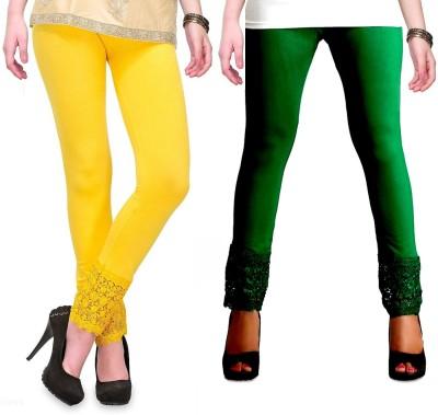 RobinRomeo Women's Green, Yellow Leggings