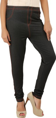 CURVIVA Women's Black Jeggings