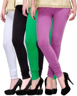 Rexel Fashion Women's White, Black, Green, Purple Leggings
