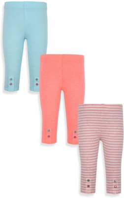 Mothercare Girl's Grey, Blue, Pink Leggings