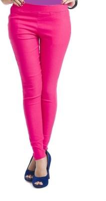 Thinline Women,s Pink Jeggings