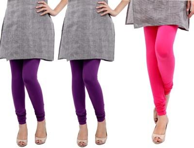 Sampoorna Collection Women's Pink, Purple, Purple Leggings