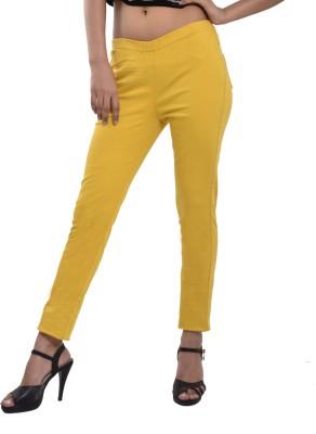 Devis Women's Yellow Jeggings