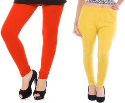 Colors More Women's Orange, Yellow Leggings