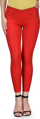 Being Fab Women's Red Jeggings
