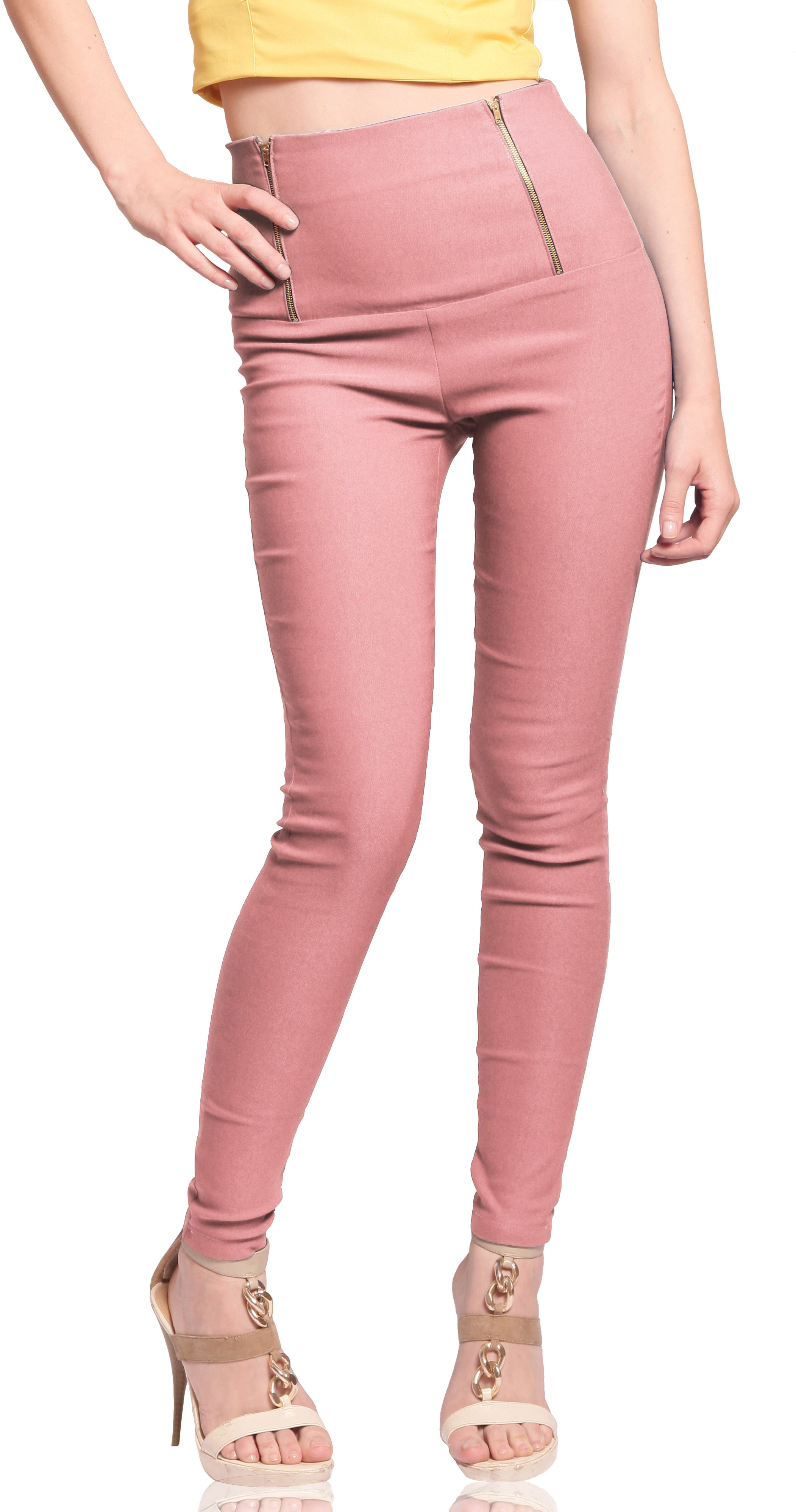 Miss Chase Womens Pink Jeggings