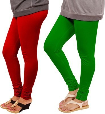KV FASHIONS Women's Red, Green Leggings