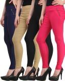 Jainish Women's Black, Beige, Pink, Dark...