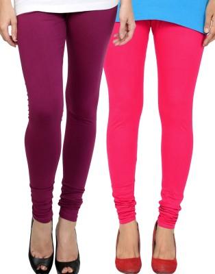 Zavlin Women's Purple, Pink Leggings