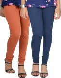 Vimal Women's Beige, Blue Leggings (Pack...