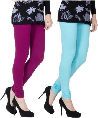 VERMELLO Women's Purple, Light Blue Leggings