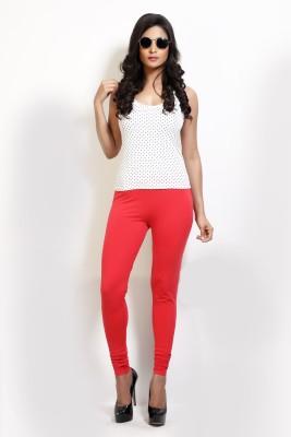 Design Classics Women's Red Leggings