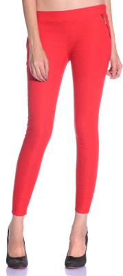 Styleava Women's Red Jeggings