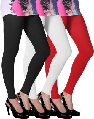 Slassy Women's Black, White, Red Leggings
