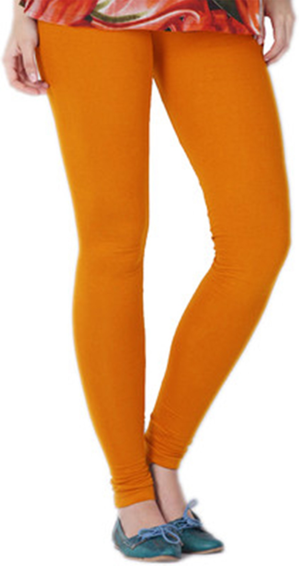 Fashionista Womens Orange Leggings
