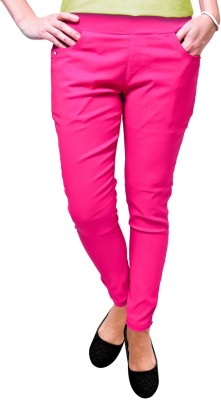 Vogue4all Women,s Pink Jeggings