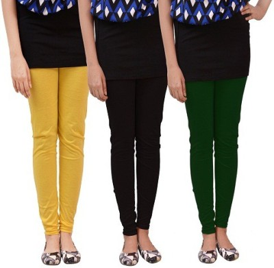 carrol Women's Yellow, Black, Green Leggings