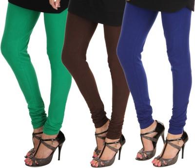 Itnol International Women's Green, Brown, Blue Leggings