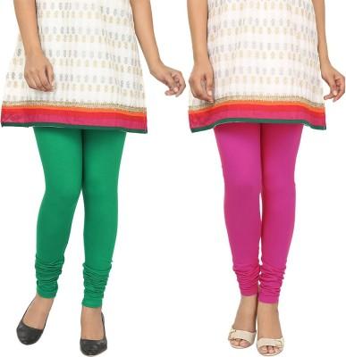 Agrima Fashion Women's Green, Pink Leggings