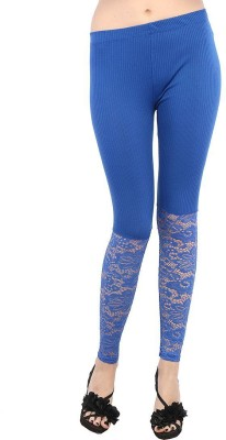 Fashion Kala Women's Blue Leggings