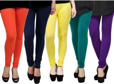 Kjaggs Women's Blue, Yellow, Green, Orange, Purple Leggings