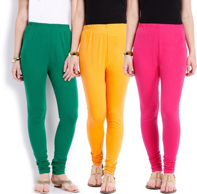Ten on Ten Women's Yellow, Pink, Green Leggings