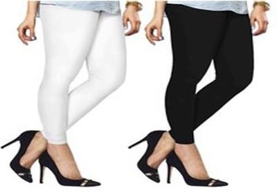 ambey shree trendz Women,s White, Black Leggings