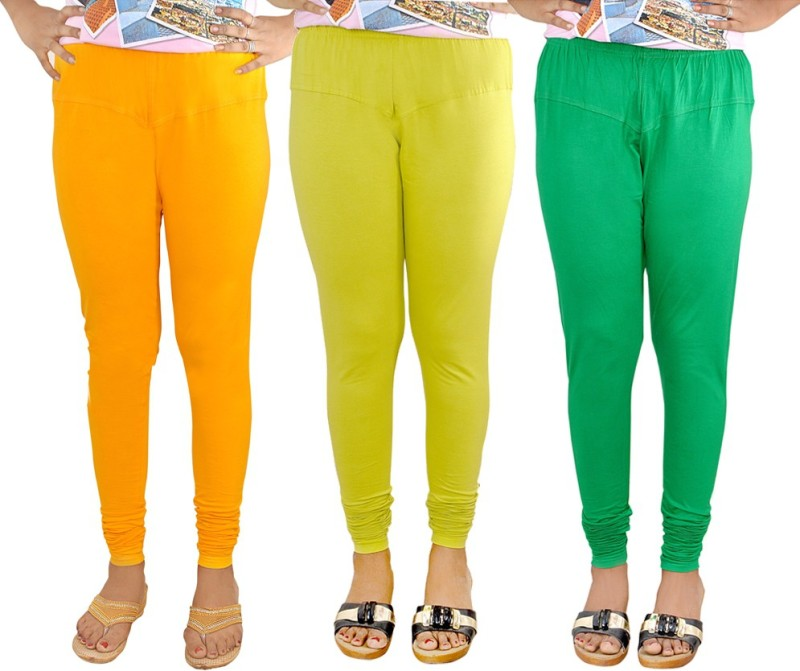 Gee & Bee Women's Multicolor Leggings(Pack of 3)