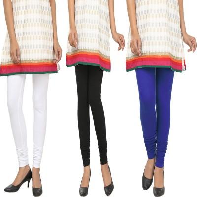Agrima Fashion Women's White, Black, Blue Leggings