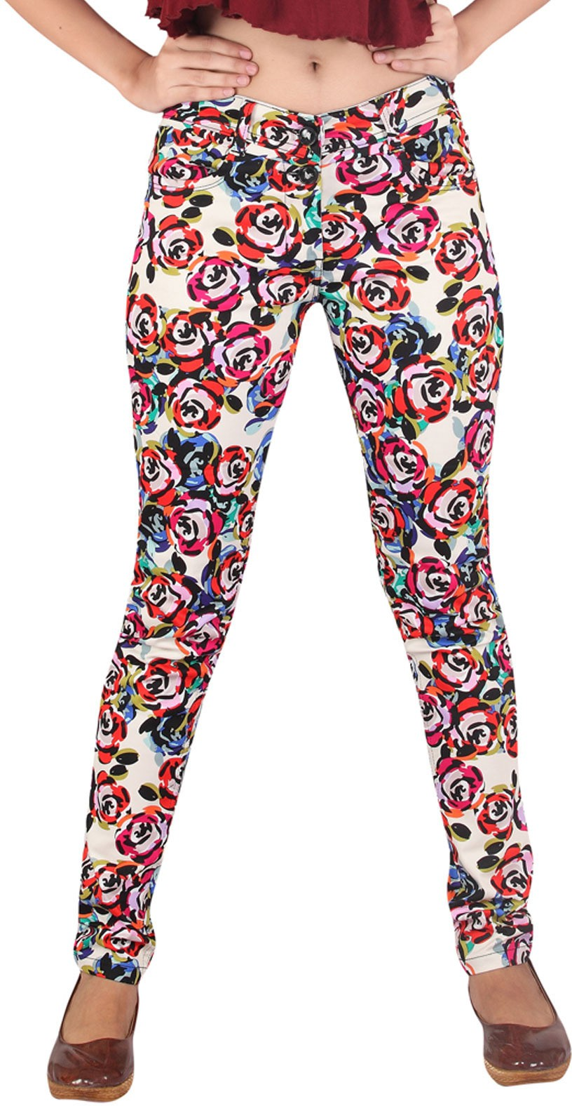 Inddus Womens Multicolor Jeggings