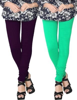 JV Wears Women's Purple, Green Leggings