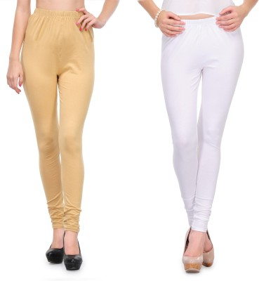 Body Size Women's White, Beige Leggings