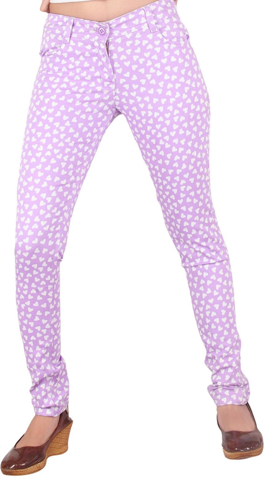 Inddus Womens Purple Jeggings