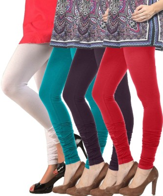 Meril Women,s White, Green, Purple, Red Leggings