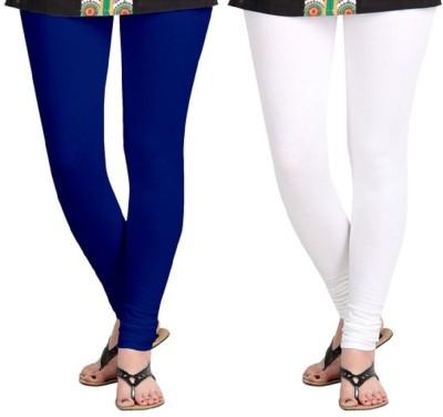 RajeshFashion Women's Blue, White Leggings