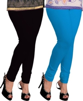 Navyamall Women's Black, Light Blue Leggings