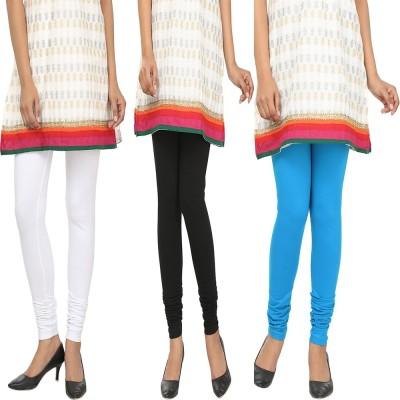 Agrima Fashion Women's White, Black, Light Blue Leggings