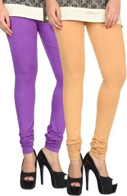 17.Hills Womens Beige, Purple Leggings