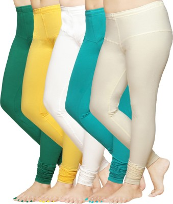 Pomelo Women's Maroon, Orange, Yellow, Blue, White Leggings