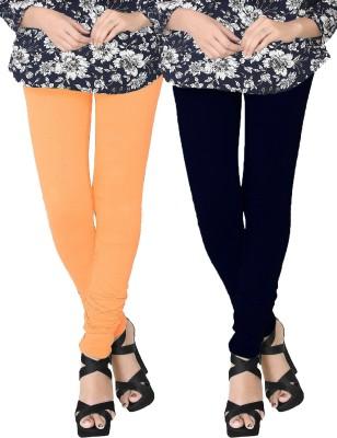 JV Wears Women's Beige, Dark Blue Leggings