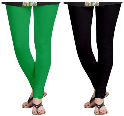 Roshni Creations Women,s Green, Black Leggings