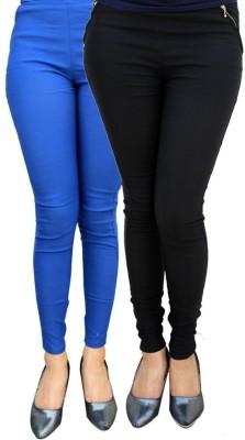 Kyron Women's Black, Blue Jeggings