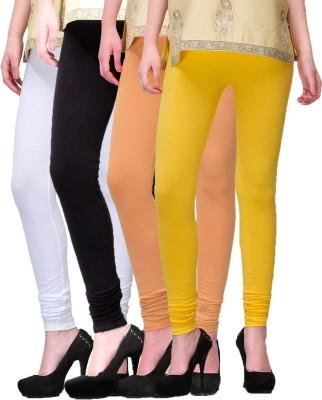 Rexel Fashion Women's White, Black, Brown, Yellow Leggings