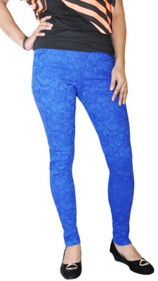 Round Off Women's Blue Jeggings