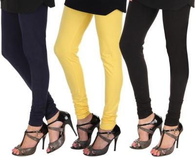 Itnol International Women's Blue, Yellow, Black Leggings
