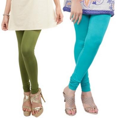 Bembee Women's Green, Light Blue Leggings
