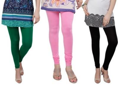 Prekrasna Women,s Green, Pink, Black Leggings