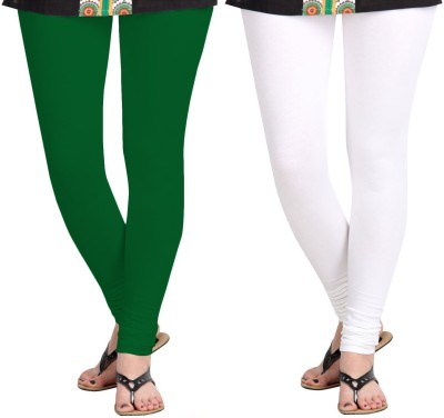 ZACHARIAS Women's Green, White Leggings