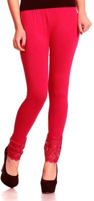 Sanchi Collection Women,s Red Leggings