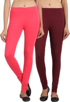 Sewn Women's Brown, Pink Leggings